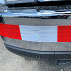 Red and White DOT Reflective Conspicuity Tape