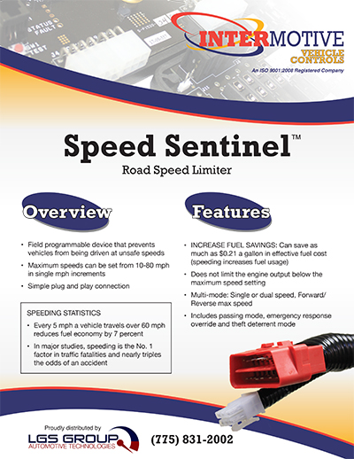 Intermotive Speed Sentinel